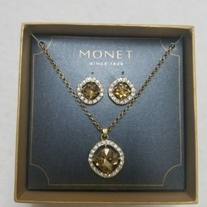 Monet Earring and Necklace Set